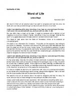 5. Word of Life Nov18