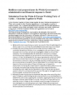 10. Resilience and preparedness – Assembly Consultation regarding Welsh Government preparations for Brexit